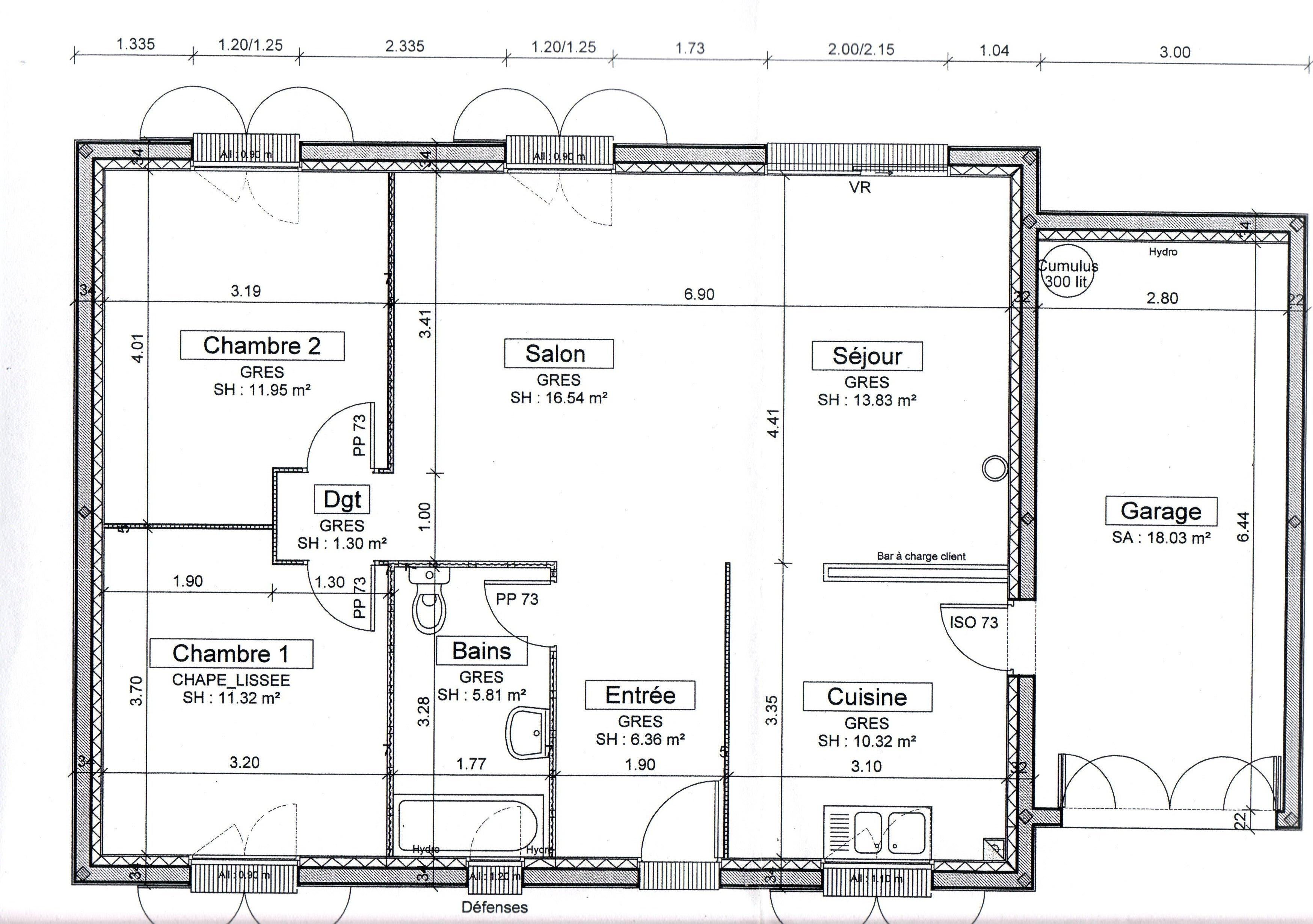 Fabulous plan de la maison with plan de la maison